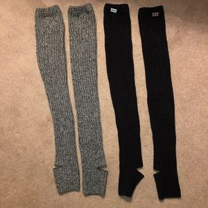 Under Armour leg warmers - 2 sets